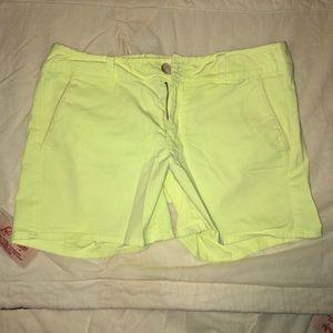 Neon yellow shorts